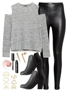 """Edgy Hanna Marin inspired house party outfit"" by liarsstyle ❤ liked on Polyvore featuring moda, H&M, Zara, Charlotte Russe, ABS by Allen Schwartz, Forever 21, NARS Cosmetics, NightOut y WF"