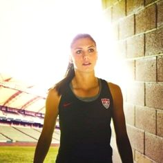 Alex Morgan scored an incredible goal during the Olympics, helping her team win 4-3 vs. Canada! #Olympics2012 #teamUSA