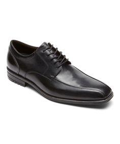 Black Macudam Leather Oxford - Men