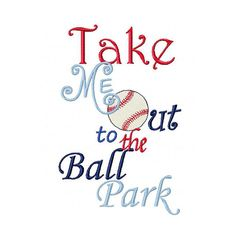 Instant Download  Baseball Embroidery Design  by jayniejayedesigns, $2.50 Machine Embroidery Patterns, Embroidery Applique, Embroidery Designs, Take Me Out, Take My, Baseball Quilt, Parking Design, Stitch Design, Iron On Patches