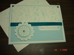 Boho Anniversary in Soft Sky by Stampin'Mo - Cards and Paper Crafts at Splitcoaststampers
