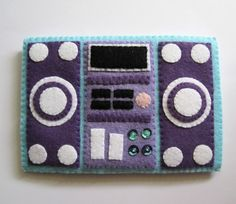 Blue Purple Stereo HiFi iPhone Felt Case. by craftingwithlove, $24.00