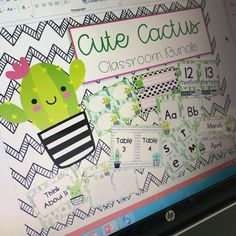 Working On A New Theme For My TPT Store Loving This Cute Cactus