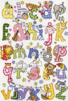 Helping your little one learn their letters is a lot easier when you have a helpful guide like this 'My First Alphabet' cross stitch kit from Bothy Threads, which accompanies each symbol w