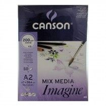 Canson Xl Series Mix Media Pad Canson Mixed Media Imagine Pad A2 200gsm 50 Sheets Mixed Media