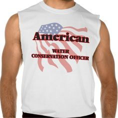 American Water Conservation Officer Sleeveless Tee Tank Tops