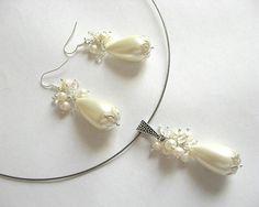 Set mireasa cu perle deosebite de Mallorca  - pret produs bijuterie mireasa - idei cadouri nunta