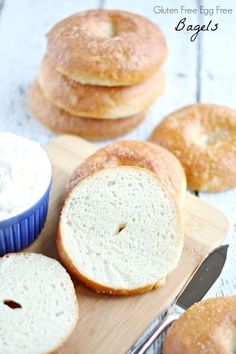 If you love bread you'll love these Gluten Free Egg Free Bagels that are also Vegan and dairy free.