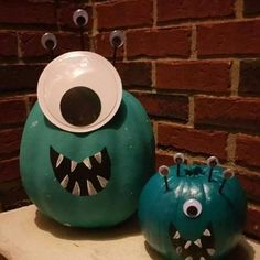 Teal Minion Pumpkins