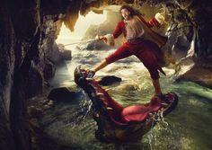 Russell Brand as Captain Hook for 'Disney Dream Portrait'