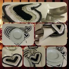 CROCHET PATTERN: contact me to receive this beautiful and romantic heart placemat set!