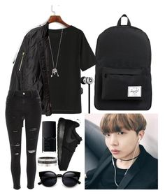 """""""KPOP OUTFIT 3 JHOPE"""" by jojogogo2003 on Polyvore featuring NIKE, NARS Cosmetics, Cartier, Herschel Supply Co., Beats by Dr. Dre, WithChic, Aéropostale and River Island"""