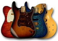 Warmoth Guitar has a neat site Build Your Custom Guitar Body I built a beautiful chambered f-hole strat here and now own it