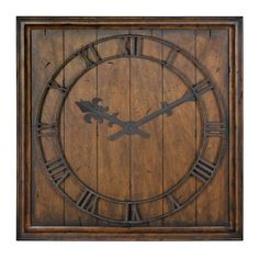 """Garrison Burnished Wall Clock Industrial Chic Uttermost Wall Mounted Clock: $125.55 31.5"""""""