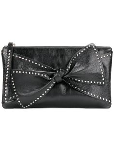 Red Valentino bow detail clutch bag