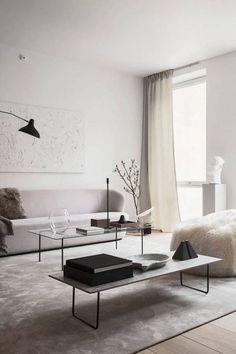 Monochromatic Living Room, Living Room White, Living Room Colors, New Living Room, Living Room Designs, Small Living, Modern Living, Living Room End Tables, Living Room Pictures