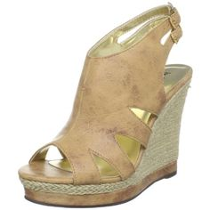 $51.12-$58.00 Michael Antonio Women's Gaelle Espadrille,Tan,8.5 M US - Take a walk on the beach with these new wedges from Michael Antonio.  Gaelle has a distressed look to the tan upper, and a 4 1/2 inch espadrille wedge.  This style has cut outs on either side and two adjustable ankle straps; a 1 inch platform makes this sandal comfy for everday wear. http://www.amazon.com/dp/B004D3ZYLA/?tag=icypnt-20