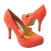 Qupid Women's TRENCH103X Mary Jany Platform High Heel Stiletto pump shoes, Coral Pink Faux Suede #shoes