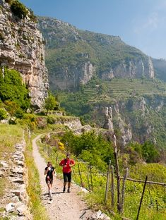 Some hiking routes in Italy.