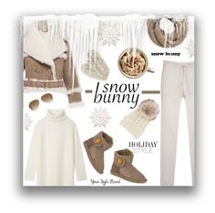 """""""Snow bunny holiday style"""" by yourstylemood ❤ liked on Polyvore featuring Burberry, Woolrich, Emu, Tory Burch, MANGO, Bibico, Ray-Ban, Inverni, snowbunny and winteressentials"""
