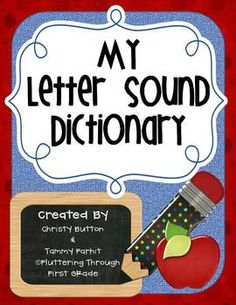 """ABC Phonics Dictionary - """"My Letter Sound Dictionary"""""""