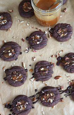 Gluten Free Thumbprint Cookies: Chocolate Turtles