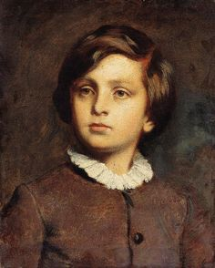 Young boy in White Collar Dress -- by Bertalan Székely von Adámos (Hungarian… White Collar Dress, Vintage Artwork, Almost Always, Young Boys, Contemporary Artists, Great Artists, Ford, Poses, Children