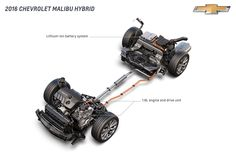 2016 Chevrolet Malibu Hybrid Diagram - Provided by MotorTrend