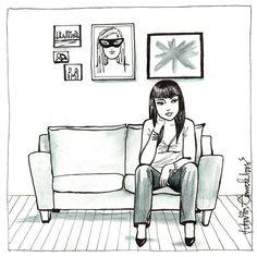 Ilustradora retrata a beleza de mulheres solteiras e felizes