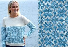 Sticka söta tröjan med retrokänsla   Land Textiles, Retro, Cover Up, Men Sweater, Sweaters, Dresses, Knitting Ideas, Knits, Blog