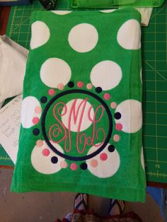 Monogrammed Beach Towels by Monogrammers on Etsy, $18.00 Summer Of Love, Summer Time, Silhouette School, Silhouette Cameo, Monogrammed Beach Towels, Towel Embroidery, Personalized Gifts, Handmade Gifts, Summer Accessories