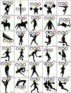 Rio - Olympic games - pictograms http://rio2016.com/en/pictogram ...