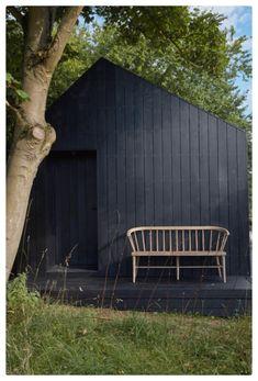 Outdoor Spaces, Outdoor Living, Small Garden Landscape, Garden Cabins, Small Buildings, Garden Studio, Garden Office, Architecture, Black House