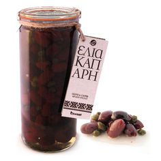 Olive and Caper Spoon Sweet Greek Recipes, Spoon, Sweets, Canning, Chocolate, Fruit, Vegetables, Cake, Desserts