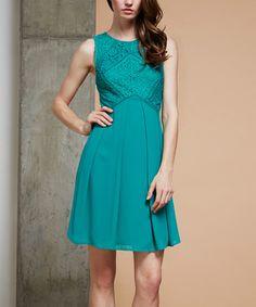 Look what I found on #zulily! Jade Lace Empire-Waist Dress #zulilyfinds