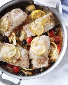 One Dish Fish Skillet - Martha Stewart Living June 2014