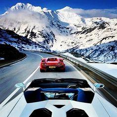 Lamborghini Aventador enjoying the sensational view