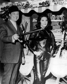 Diana Rigg as Emma Peel in The Avengers (with Patrick Macnee)