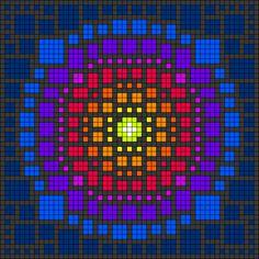 Cross Stitch Embroidery, Cross Stitch Patterns, Graph Paper Art, C2c Crochet, Minecraft Designs, Mosaic Projects, Alpha Patterns, Flower Mandala, Friendship Bracelet Patterns