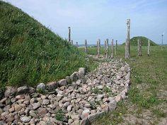 Reconstructed stone paving around a Bronze Age mound near Borum Eshøj