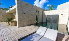 One of the two private spa villas for couples.