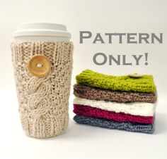I'm taking up knitting and making these for all of my Starbucks loving friends.