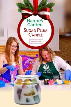Sugar Plum Fairy Candle Recipe from the Natures Garden Christmas Special!