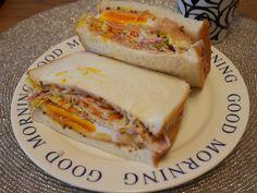 沼サンド風?半熟卵&キャベツサンド « よなよな食堂
