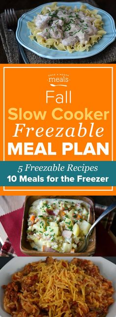 Use your slow cooker this fall to manage your busy schedule with these 10 dinners that make 20 meals quickly.