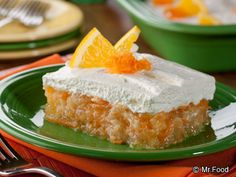 "PINEAPPLE CITRUS CREAM SQUARES RECIPE: ~ From: ""Mr.Food.Com"". ~ Recipe Furnished By: ""MR.FOOD TEST KITCHENS"".  ** Everything old is new again, and that goes for the gelatin mold. Our no-mold required refreshing and creamy Pineapple Citrus Cream Squares are easy to serve and bring along too! **  When ready to serve, garnish with orange slices. ***This recipe was also one of our Top 10 TV Recipes of 2012! Check out the rest here."