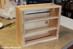 DIY Wooden Crate LEGO Minifigure Storage