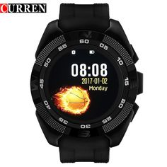 44.99$  Watch now - http://aiky2.worlditems.win/all/product.php?id=32797508265 - Curren Smart Phone Watch Men Watch Heart Rate Step Counter Stopwatch Ultra thin Bluetooth Wearable Devices Sport For IOS Android