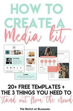 How to make a media kit and the three elements you need to stand out from the crowd. A ton of free templates to make your media kit. When pitching brands and negotiating sponsored posts for my blog and Instagram, it's important you have a unique media kit that sets you apart from all the others!