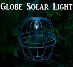 Add some flair to your garden or outdoor deck area with a globe solar light.